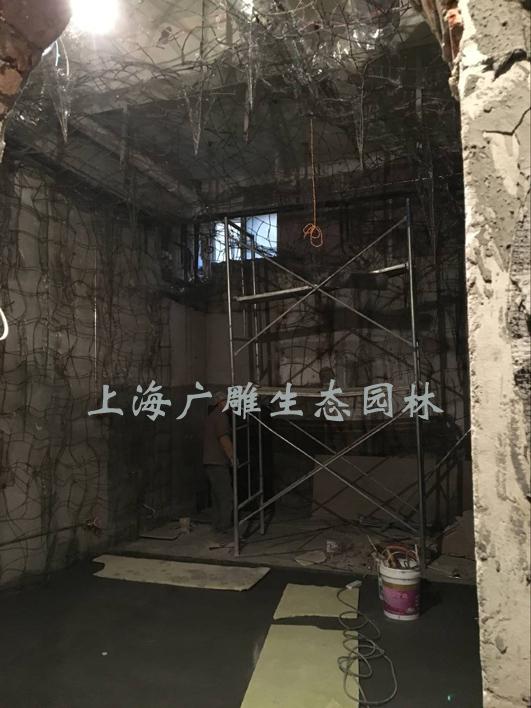 杭州塑石溶洞钟乳石施工现场.jpg